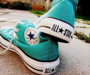 blue, converse, and dreamy image