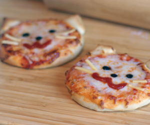 pizza, cat, and food image