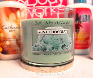 candle, bath and body works, and mint image