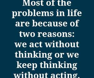 quote, life, and problem image