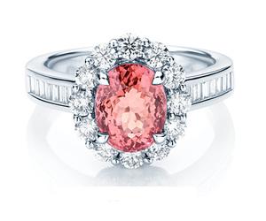 beautiful, pink, and diamond image