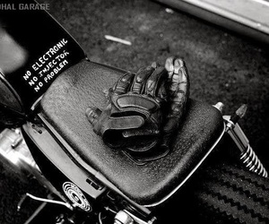 gear, gloves, and motorcycle image