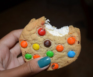 cookie, food, and m&m's image
