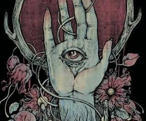eye, hand, and art image