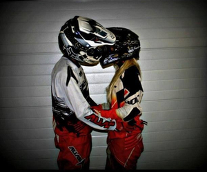 Relationship, couple, and motocross image