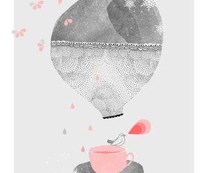 pink, art, and illustration image