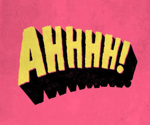 pink, yellow, and ahhhh image