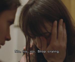 cry, crying, and sad image