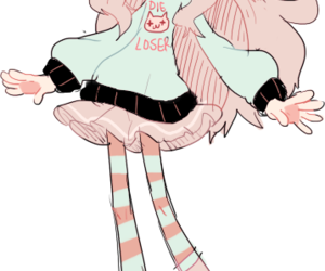 animation, girl, and pastel image