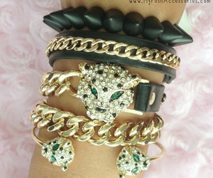 arm candy, bracelets, and chain image