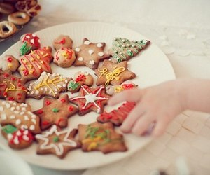 christmas, Cookies, and yummy image
