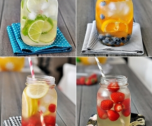 berries, blueberry, and drinks image