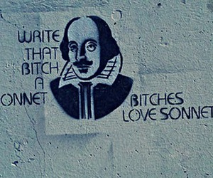 bitches, poem, and shakespeare image