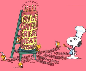 cake, happy, and snoopy image