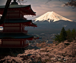 japan and mountain image