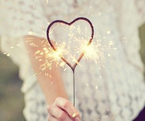 heart, sparkling, and love image
