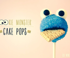 cookie monster, cake pops, and cookie image
