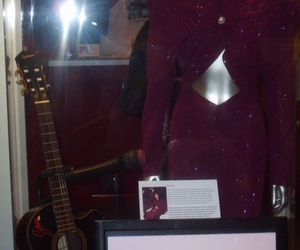 guitar, purple, and museum image
