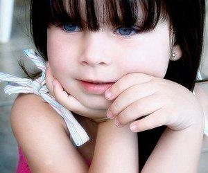 baby, blue eyes, and boneca image