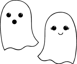 ghost, black and white, and boo image
