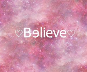 believe, galaxy, and pink image