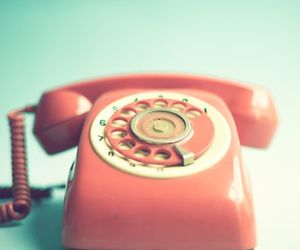 vintage, telephone, and pink image