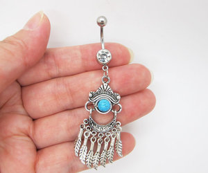 gypsy jewelry, native american, and belly ring image