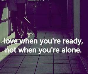 alone, Relationship, and love you image