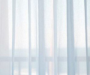 curtains and morning image