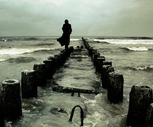 sea, photography, and alone image