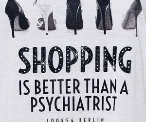 shopping, shoes, and quote image