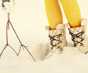 gloves, boots, and snow image