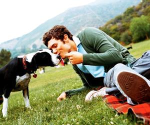 adam brody, dog, and boy image