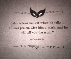 quotes, oscar wilde, and mask image