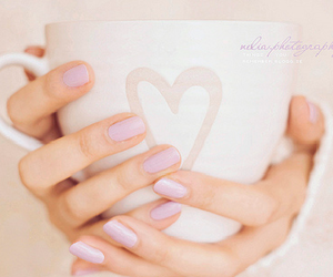 heart, nails, and cup image