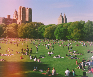 people, Central Park, and building image