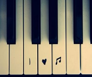 music, love, and piano image