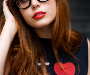 girl, glasses, and ny image