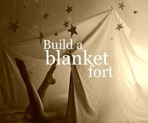 before i die, blanket, and fort image
