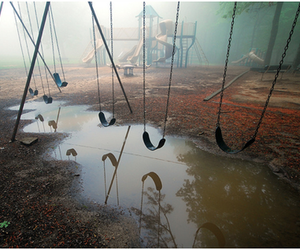 swing, playground, and photography image
