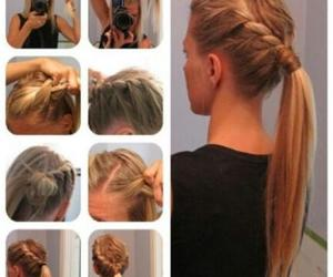 blonde, braided, and braid image