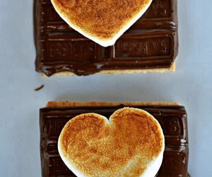 chocolate, food, and smores image