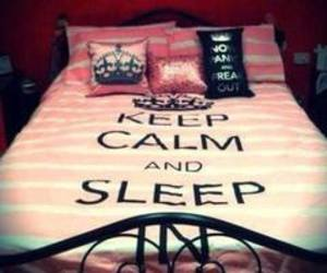 sleep, keep calm, and bed image