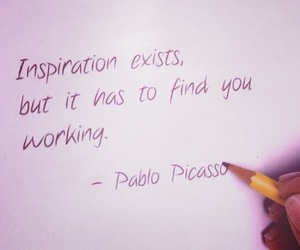 inspiration, quotes, and Pablo Picasso image