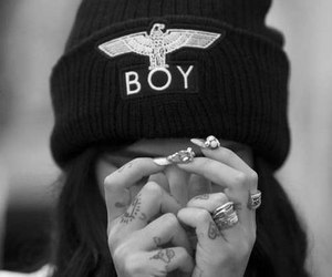 girl, boy, and tattoo image