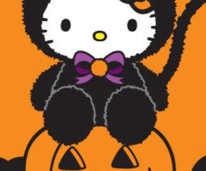 hello kitty, backgrounds, and Halloween image