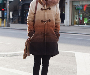 brown, coat, and outfit image