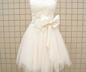 dress, white, and pretty image