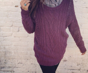 fall, maroon, and outfit image
