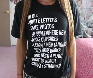 list, shirt, and style image